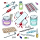 Colourful Sticker of Medical Drugs, Tablets - GraphicRiver Item for Sale
