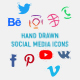 Hand Drawn Social Media Icons - VideoHive Item for Sale