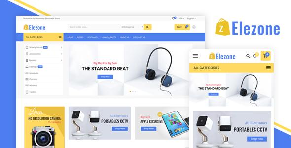Elezone Electronic Mega Store - Prestashop 1.7.5 Theme