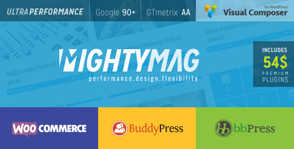 MightyMag - Magazine, Shop, Community WP Theme