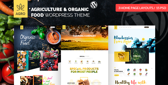 Agro - Organic Food  & Agriculture WordPress Theme