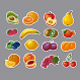 Fruits Stickers - GraphicRiver Item for Sale