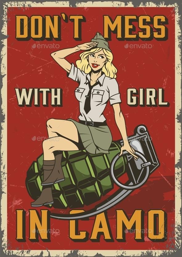 Retro Military Poster