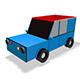 Low Poly City Car 3d Model - 3DOcean Item for Sale