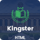 Kingster - Education HTML Template - ThemeForest Item for Sale