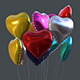 Heart Balloons Pack1 - 3DOcean Item for Sale