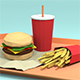 Low-Poly Fast Food - 3DOcean Item for Sale