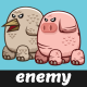 Pig and Bird Monster Sprites | Enemy Game Characters - GraphicRiver Item for Sale