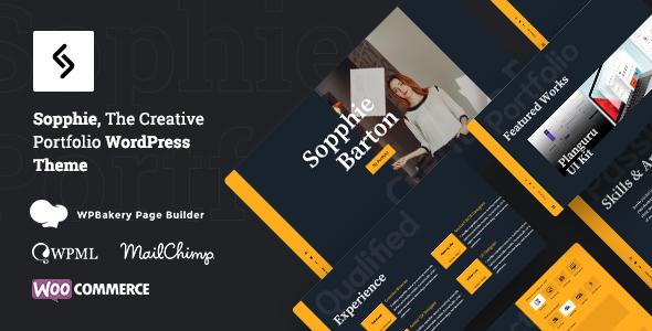 Sopphie – Creative Responsive Personal  WordPress Theme
