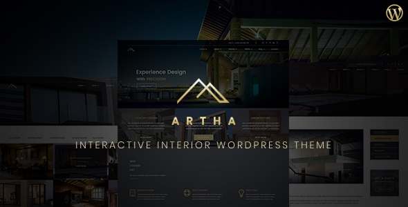 Artha Interactive Interior WordPress Theme