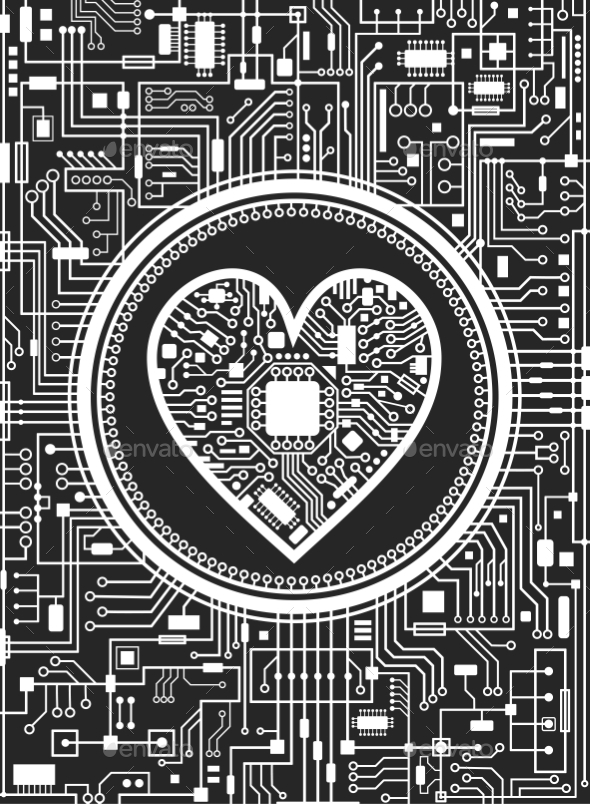 Valentines Day Black and White Background