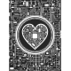 Valentines Day Black and White Background - GraphicRiver Item for Sale