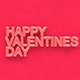 happy valentines day/ 3d text mock up - 3DOcean Item for Sale