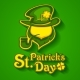Leprechaun with Pipe on Green. Vector Illustration. - GraphicRiver Item for Sale