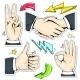 Set Colorful Icons Hand, Handshake, Like, Star - GraphicRiver Item for Sale