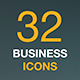 Business, Finance and Money Web Icon Set. Outline Flat Vector Icons. - GraphicRiver Item for Sale