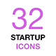 Startup Business Thin Line Icons Set - GraphicRiver Item for Sale