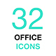 Outline Vector Icon Set. Office, Workspace. - GraphicRiver Item for Sale