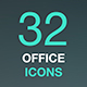 Set of Office Related Vector Icons. Business, Workplace, Office Building. - GraphicRiver Item for Sale
