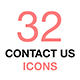 Contact Us Vector Icons Set. Business, office, work. - GraphicRiver Item for Sale