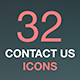 Contact Us Icons. Vector Icons Set on Dark Background - GraphicRiver Item for Sale