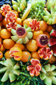 Bright juicy fruits in the assortment on the counter of the fruit market.  - PhotoDune Item for Sale
