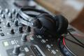 DJ Mixer with headphones. - PhotoDune Item for Sale