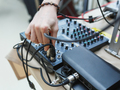 DJ connects the sound equipment for the event or party. - PhotoDune Item for Sale