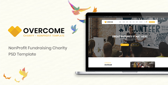 Overcome – Charity Multipurpose Non-profit PSD Template