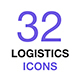 Logistics, Delivery, Transportation Thin Line Vector Icon Set - GraphicRiver Item for Sale