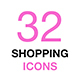 Simple Shopping Icons Set. Thin Line Vector Icons Collection - GraphicRiver Item for Sale