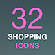 Vector Web Icon Set. Thin Line Shopping Malls and Retail Icons Collection - GraphicRiver Item for Sale
