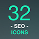 Set of Thin Line Vector Icons. Search Engine Optimization. Web design and Development - GraphicRiver Item for Sale