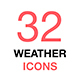 Weather Forecast. Thin Line Web Icons Collection. - GraphicRiver Item for Sale