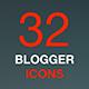 Blogging, Social Media Icon Set in Flat Modern Design Style. - GraphicRiver Item for Sale