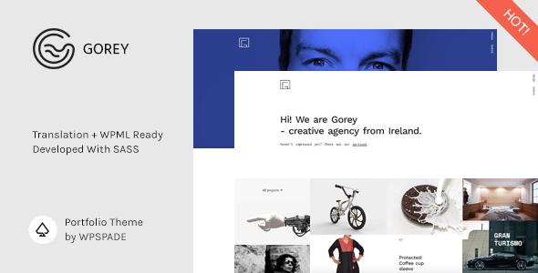Gorey - Simple Minimalist Portfolio Theme