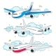 Vector Set of Aircraft - GraphicRiver Item for Sale