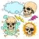 Vector Set of Skulls - GraphicRiver Item for Sale