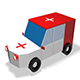 Low Poly Ambulance 3d Model - 3DOcean Item for Sale