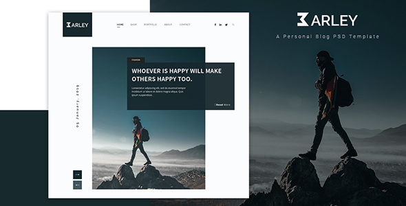 Barley - Ultimate Personal Blog PSD Template