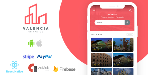 Valencia - Complete City Guide App + Backend Download