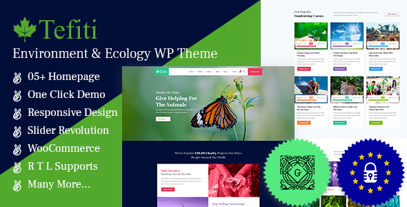 Tefiti- Environment & Ecology WordPress Theme