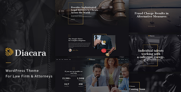Diacara – WordPress Theme For Law Firm & Attorneys