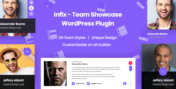 InfixTeam - Team Showcase WordPress Plugin