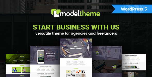 ModelTheme - Versatile WordPress Theme for Agencies and Freelancers