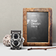 Rustic Chalkboard Old Camera Mockup - GraphicRiver Item for Sale