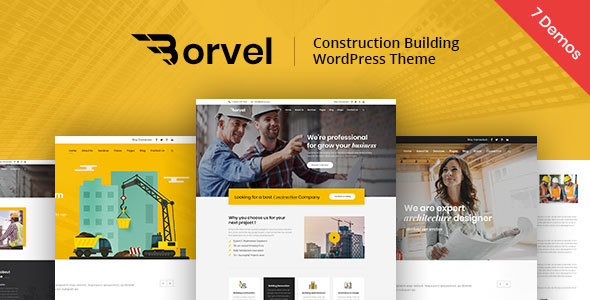 Borvel - Construction Building Company WordPress Theme
