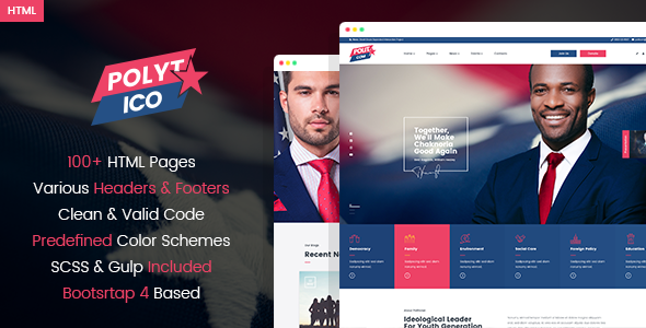 Polytico - Multipurpose Political And NGO HTML Template