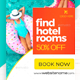 Hotel Banner Ads - GraphicRiver Item for Sale