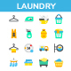 Laundry Flat Icon Set - GraphicRiver Item for Sale